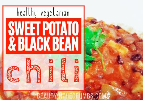 Vegetarian Black bean and sweet potato chili recipe