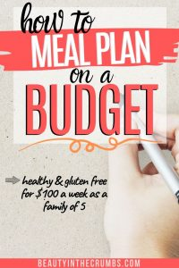 Budget meal plan for families to save money