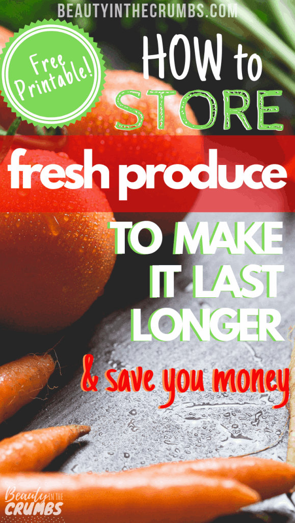 Tips to store and keep produce fresh longer