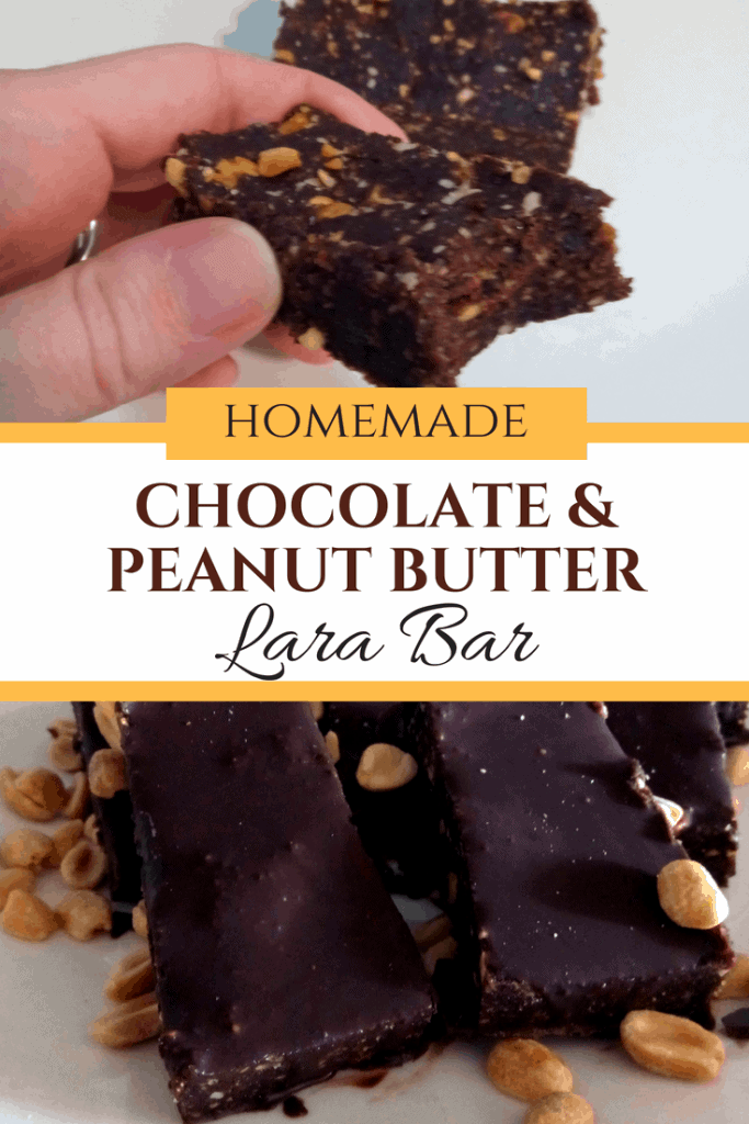 homemade lara bars, homemade chocolate peanut butter lara bar