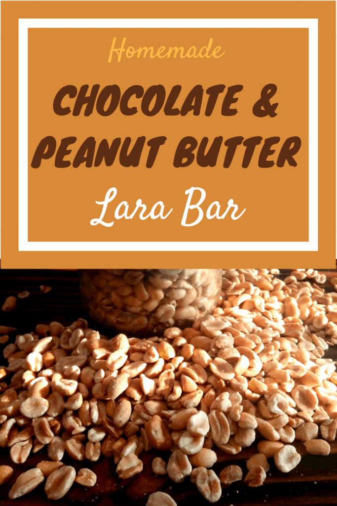 homemade lara bars, homemade chocolate and peanut butter lara bars