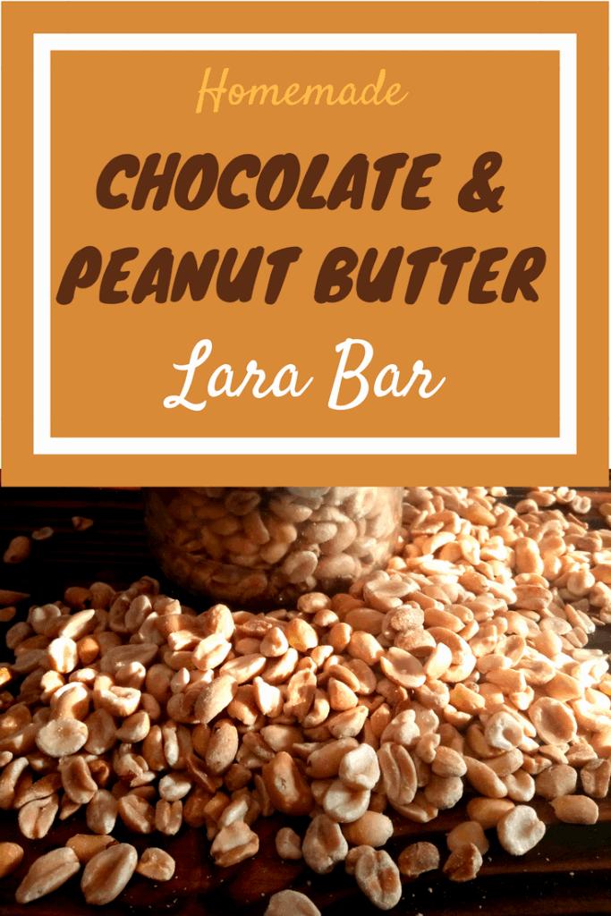 homemade lara bars, homemade chocolate and peanut butter lara bars