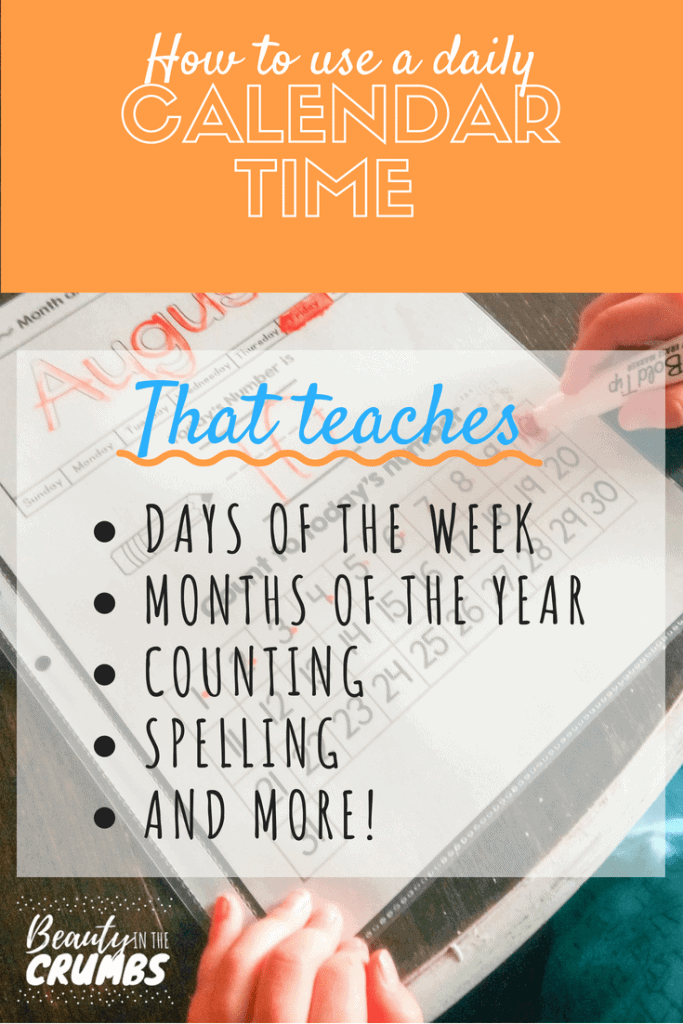 Calendar time, calendar time student sheet, dry erase calendar sheet for students