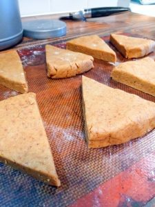 Pumpkin Scones made with coconut oil and flax egg