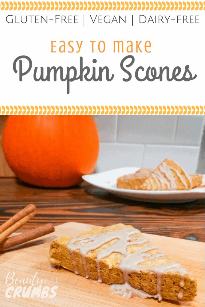 Pumpkin Scones, gluten-free, dairy-free, vegan breakfast