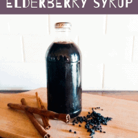 Need to kick a cold or flu fast? Make this easy and delicious Elderberry Syrup at home to cut your sickness time in half! Kid and pregnancy safe!