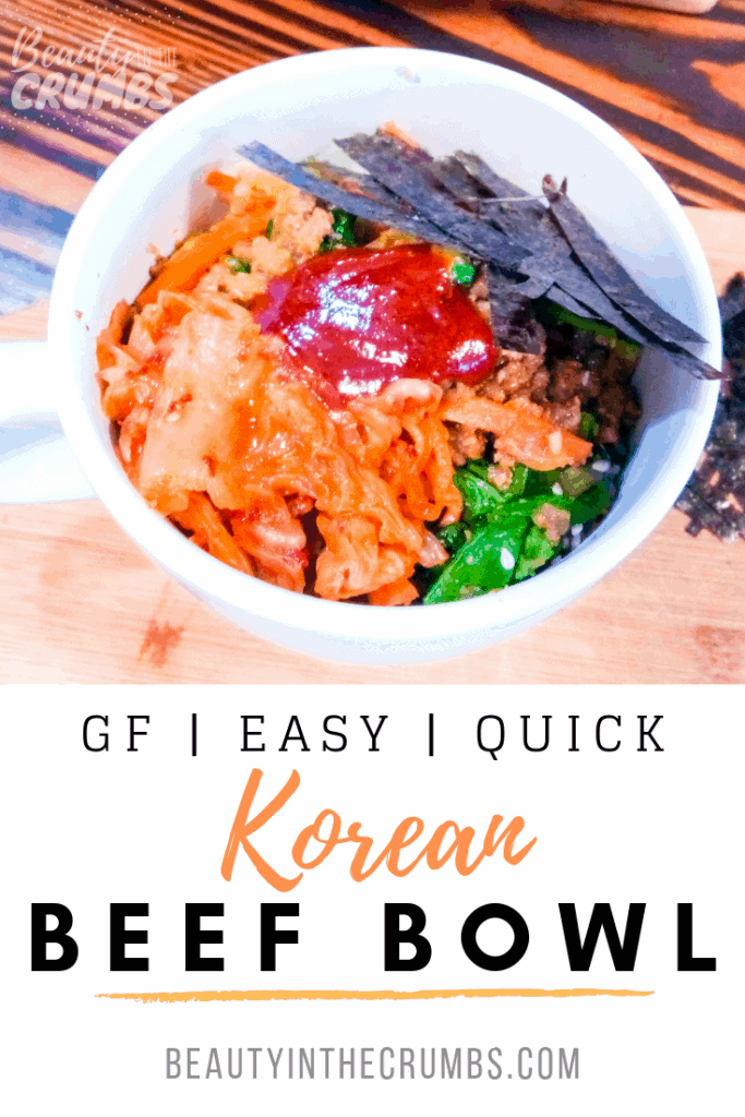 Easy Korean Beef Bowl loaded with veggies (Bibimbap)!