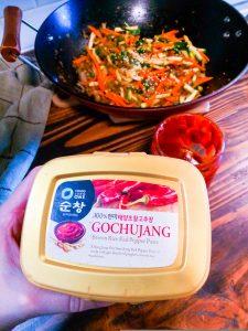 Healthy korean beef bibimbap bowl gluten free, dairy free, easy 30 minute meal