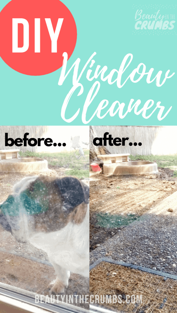 This is the best DIY homemade, streak free, all natural, non toxic window cleaner. It's easy to make and uses simple ingredients like vinegar and alcohol. This window spray is for outdoor and indoor use. Perfect for moms with little people who can't stop licking the window.