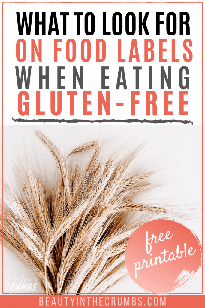 gluten-free diet: foods to avoid