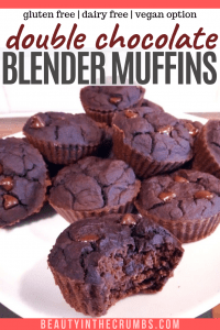 Healthy quick gluten free blender muffins with pumpkin or banana