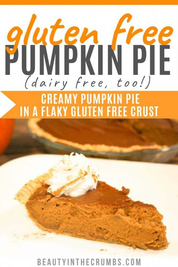 Dairy free gluten free pumpkin pie with crust