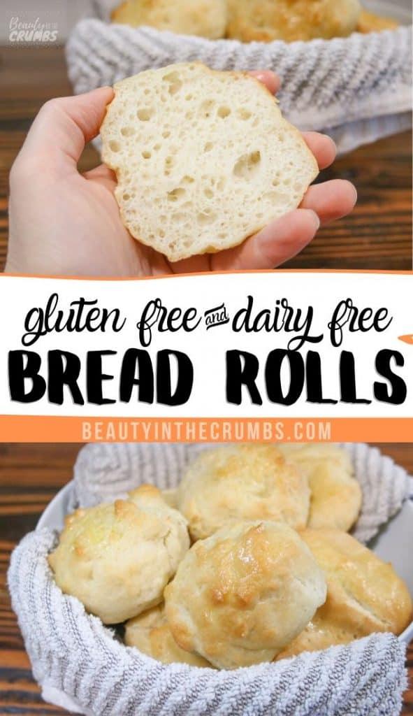gluten free dinner rolls, vegan and super soft