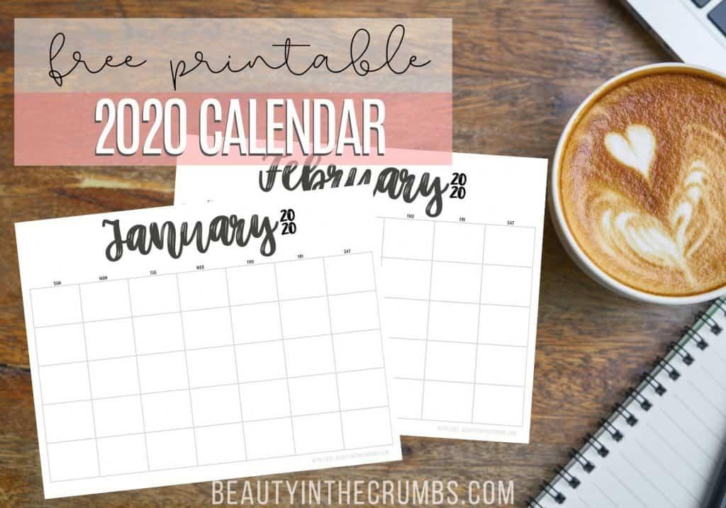 free calendar 2020 printable
