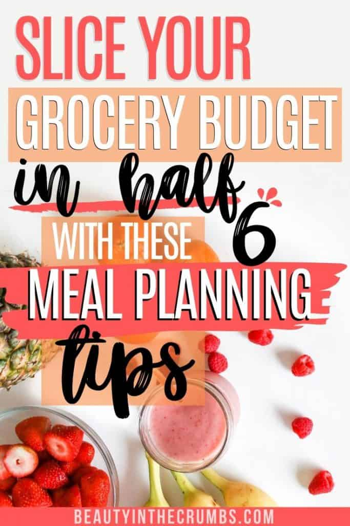 meal planning template to save money