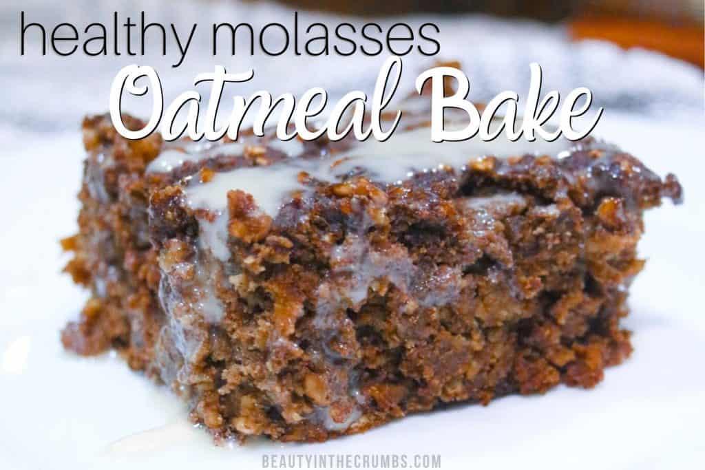Healthy oatmeal bake with soak oats