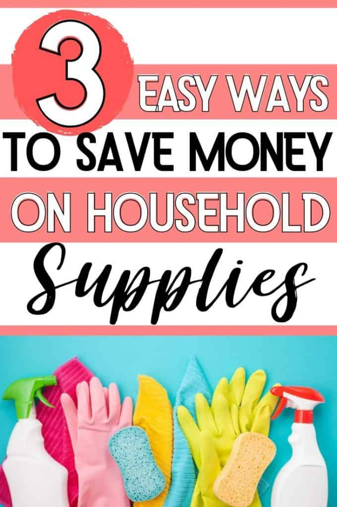 how to save money on household supplies