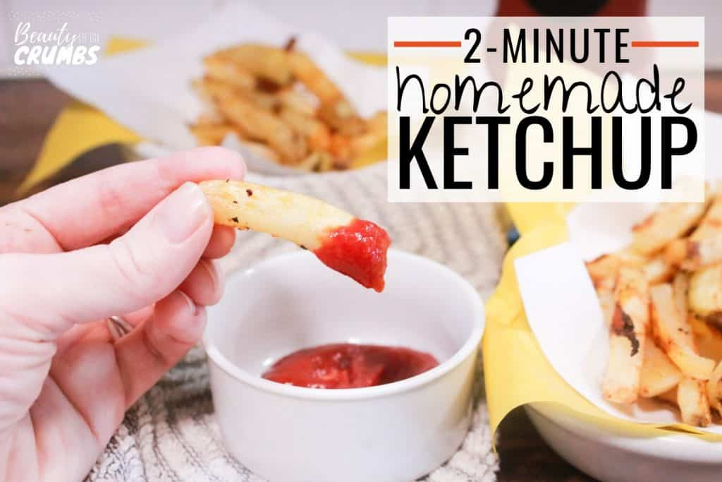 recipe of ketchup, easy 2 minute healthy ketchup