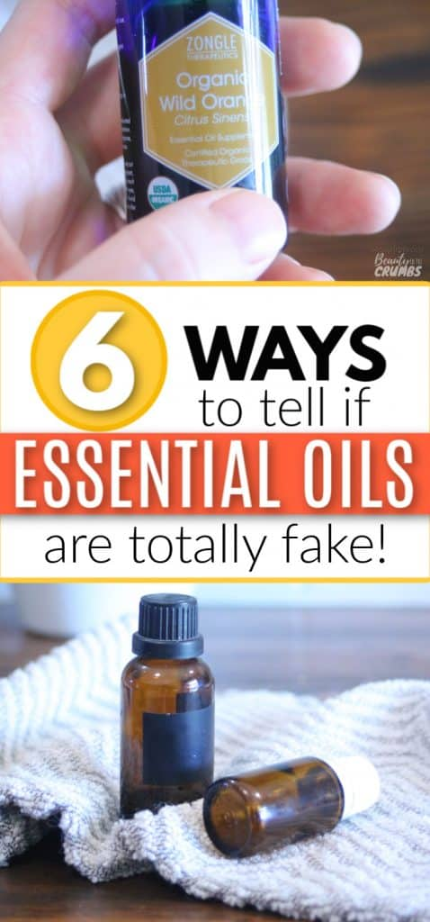 how to tell fake essential oils
