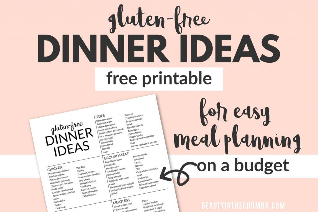 gluten free dinner ideas for families on a budget