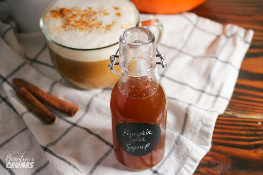 Homemade pumpkin spice syrup recipe made healthy