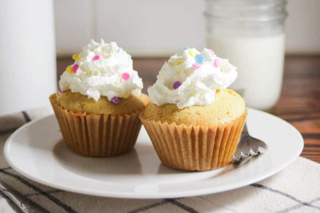 Gluten free vanilla cupcake recipe for two