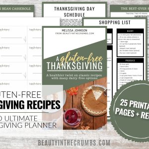 Gluten free Thanksgiving Recipes and Planner