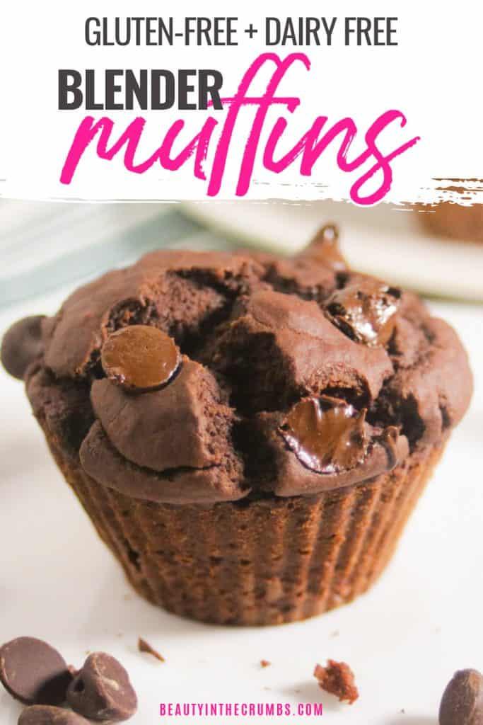 healthy flourless chocolate blender muffins recipe