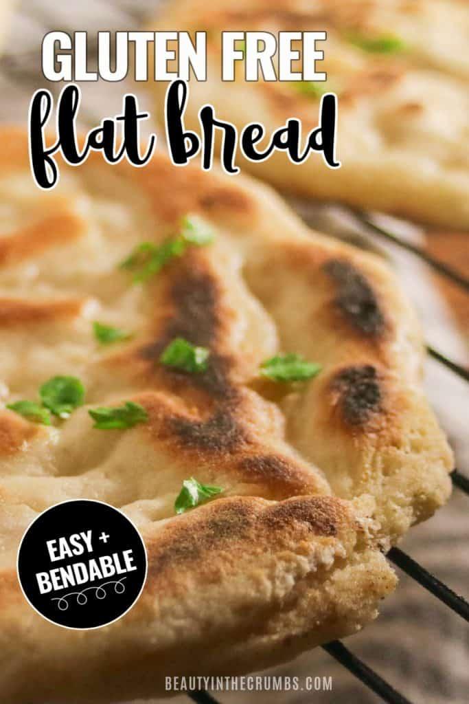 best gluten free naan recipe (dairy free vegan flat bread)